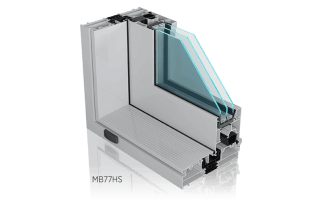 Tarasowe drzwi aluminiowe Wiśniowski