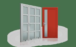 Aluminiowe drzwi Wiśniowski