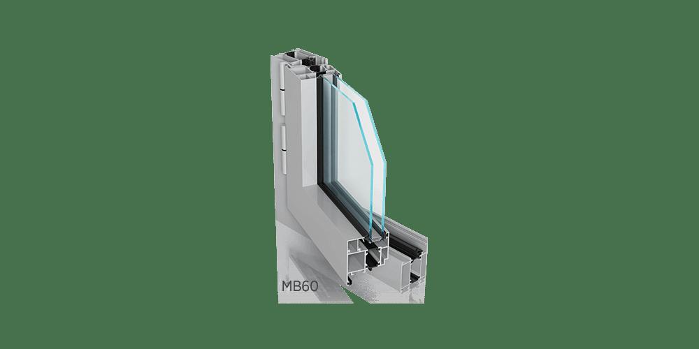 MB60 Okno aluminiowe Wiśniowski