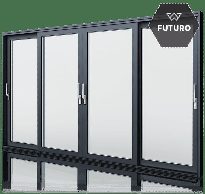 Aluminiowe drzwi tarasowe Wiśniowski