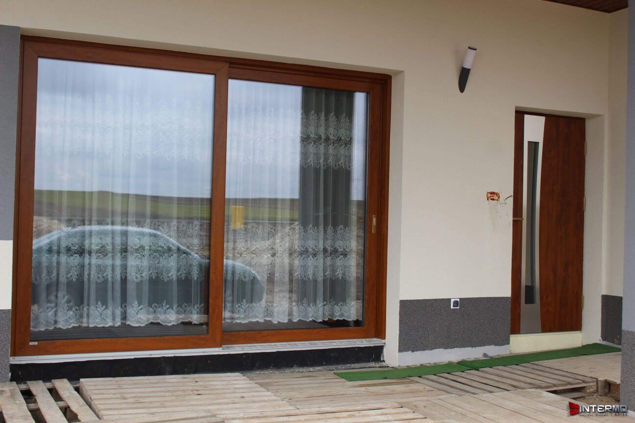 Drzwi przesuwne na tarasie