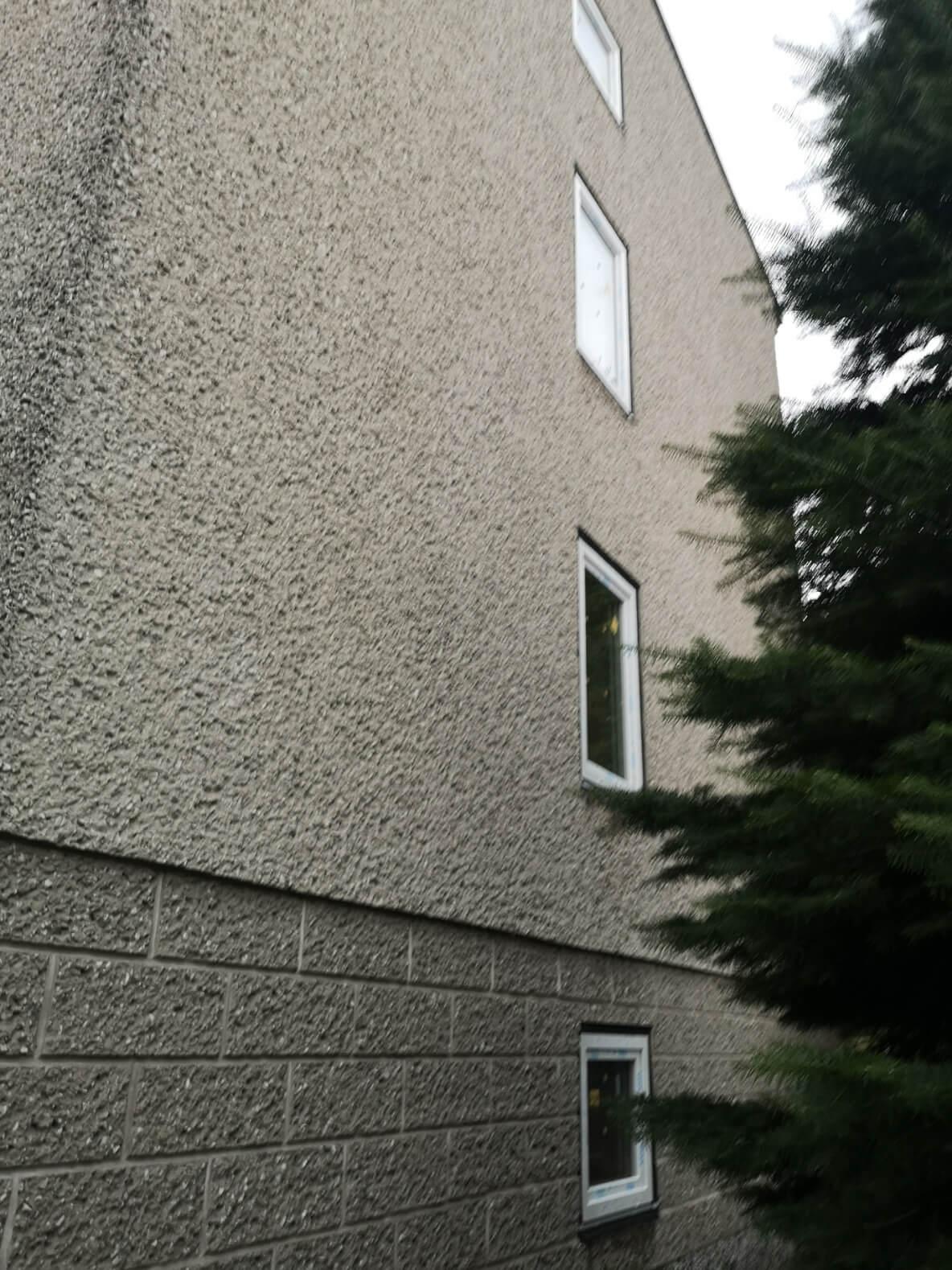 Ściana domu jednorodzinnego